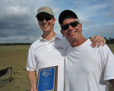 Jody Miller (on the left) is presented with his award for FSS Champion of 2011 by Ed White.
